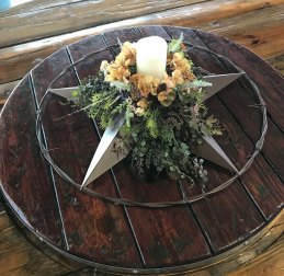 Gorgeous centerpiece at Ironroot Republic Distillery