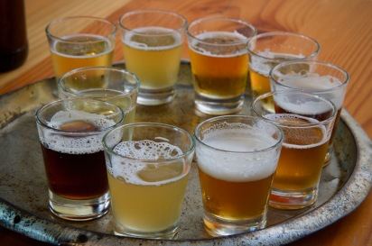 Flight of beer from Little Creatures