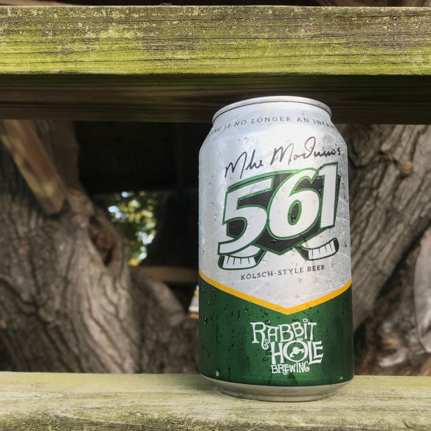 This clean, crisp, kolsch style beer was created in a loose collaboration with the beloved Dallas athlete. The brewers of Rabbit Hole have a mutual friend with Mike Modano, and after meeting the brewers crafted a beer with soft malts and fruity hops that fit Modano's tasted perfectly. Modano decided to call the beer 561 to commemorate his 561 goals made as a professional hokey player (that's a record for american born hokey players!) This beer uses German Pilsner malts with noble hops to create a light, refreshing brew.